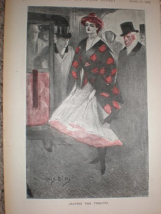 Arthur Wallis Mills - Photograph of original artwork by Arthur Wallis Mills for The Black and White Illustrated Budget, 1903