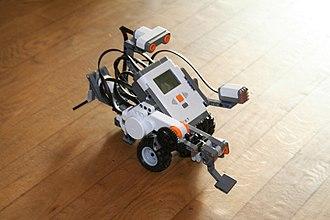 Robot kit - A robot built using the Lego Mindstorms NXT set.