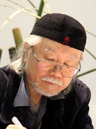 Leiji Matsumoto - Matsumoto signing books at the Geneva book fair in May, 2014