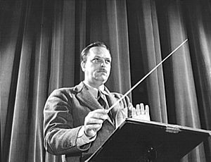 Leith Stevens, American composer. Original cap...