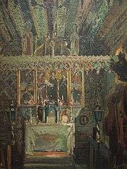 Wnętrze kościoła w Dębnie