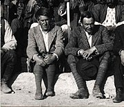 Leonard Woolley (right) and T.E.Lawrence at the British Museum's Excavations at Carchemish, Syria, in the spring of 1912
