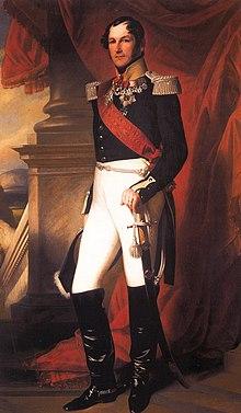 König Leopold I. von Belgien, Porträt von Franz Xaver Winterhalter aus dem Jahre 1840 (Quelle: Wikimedia)