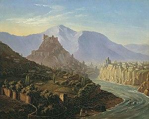 Tbilisi - Tiflis by Mikhail Lermontov, 1837.