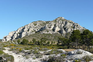 Alpilles mountains in France