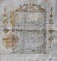 Letter from Tsar Peter I to Grand Master Perellos, 1697.jpg