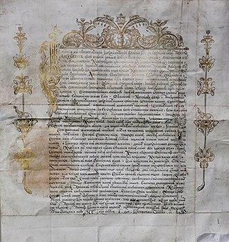 Ramon Perellos y Roccaful - Letter from Tsar Peter I to Grand Master Perellos, 1697