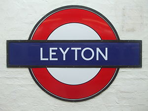 Leyton tube station