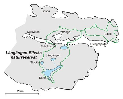 How to get to Långängen-Elfviks Naturreservat with public transit - About the place