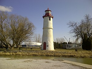 Essex County, Ontario - Thames River Lighthouse, in Essex County, Ontario, built in 1818.