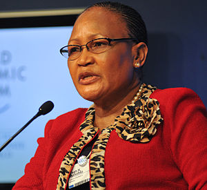 Linah Mohohlo - Linah Mohohlo at the 2011 World Economic Forum on Africa