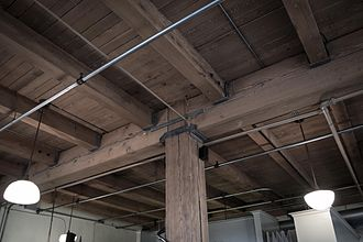 Joist - A double floor is a floor framed with joists supported by larger timbers.
