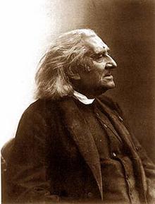 Liszt kurz vor seinem Tod,Fotografie von Nadar (Quelle: Wikimedia)
