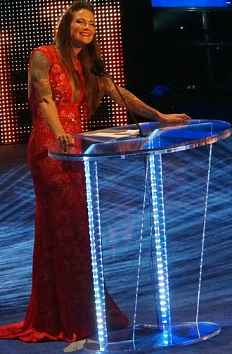 Lita (wrestler) - Lita during her speech of induction at the WWE Hall of Fame in April 2014