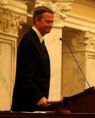 Brad Little (politician) - Little presiding over the Idaho Senate in 2011