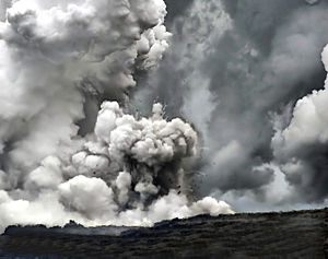 Steam explosion - Image: Littoral explosion at Waikupanaha 2