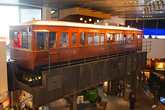 Electric multiple unit - Liverpool Overhead Railway EMU carriage in the Museum of Liverpool
