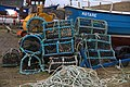 Lobster pots, Aith Voe pier, Cunningsburgh - geograph.org.uk - 1700744.jpg