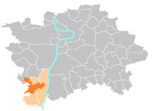 Location map municipal district Prague - Praha 16 Radotín.PNG