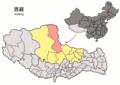 Location of Shuanghu within Xizang (China).png