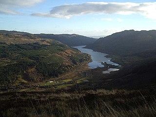 Loch Lubnaig Loch in Stirling, Scotland, UK