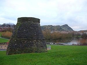 Restalrig - Lochend Park with Lochend Castle doocot