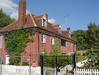 Lee Navigation - Lock-keeper's cottages at Old Ford Lock, used for filming The Big Breakfast