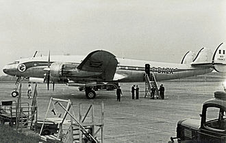 Air France Flight 152 - An Air France Lockheed L-749 Constellation similar to the accident aircraft