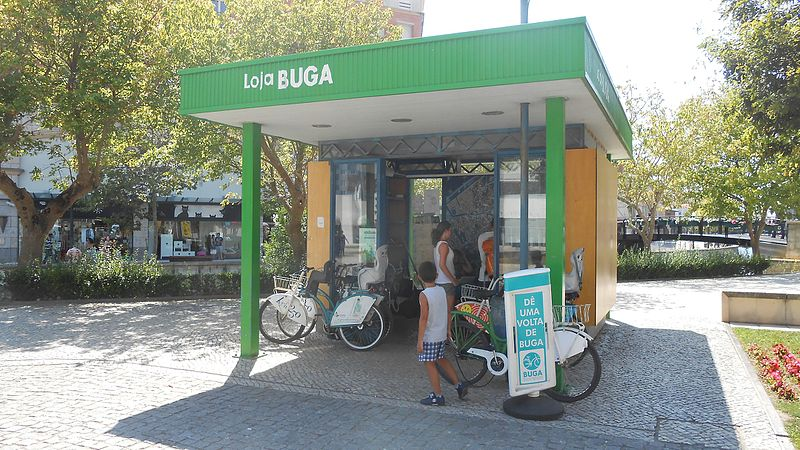 Andar de bike em Aveiro