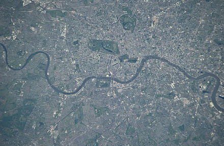 Satellite view of inner London (2010) London, United Kingdom.JPG