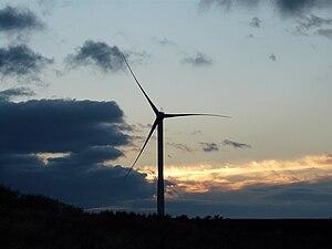 Upperton, North Lanarkshire - Wind turbine at Greendykeside, near Upperton