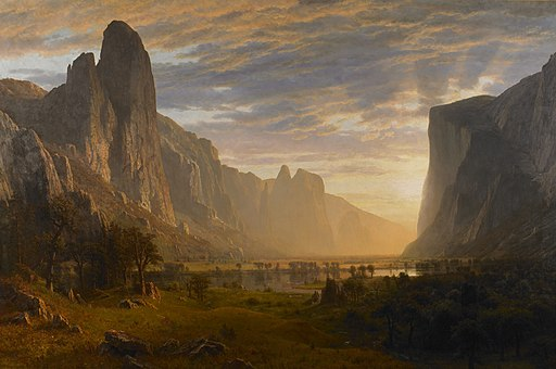 """Looking Down Yosemite Valley, California"" by Albert Bierstadt"