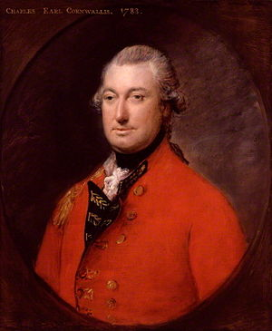 Battle of the Assunpink Creek - Charles, Earl Cornwallis, portrait by Thomas Gainsborough