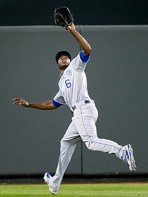 Lorenzo Cain - Cain playing for the Kansas City Royals in 2013