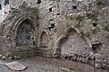 Lorrha Priory of St. Peter Nave Altar, Piscina, and Sedilia 2010 09 04.jpg