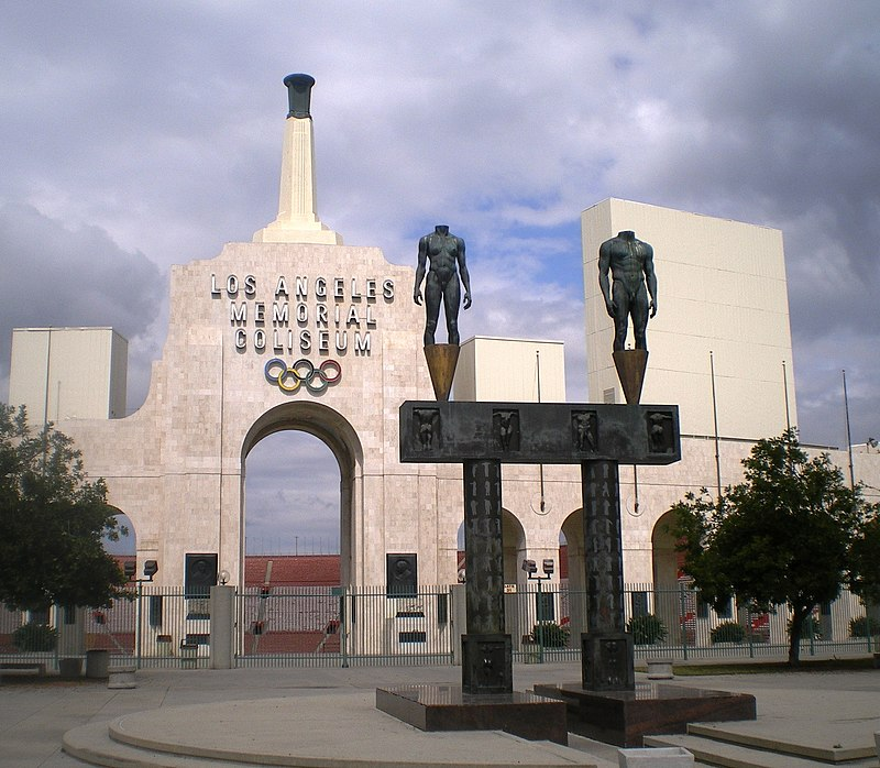 Los Angeles Memorial Coliseum (Entrance).JPG