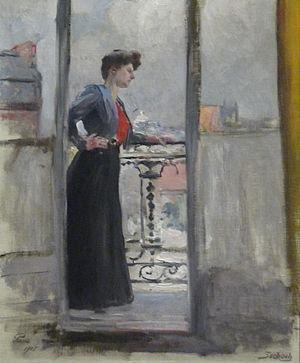 Lothar von Seebach - Image: Lothar von Seebach Femme à son balcon