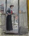 Lothar von Seebach-Femme à son balcon.jpg