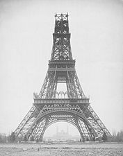 Louis-Emile Durandelle, The Eiffel Tower - State of the Construction, 1888-B&W5ctr.jpg