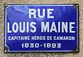 Louis Maine, street sign in Mussidan, France.jpg