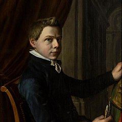 Zelfportret van Laurens Alma Tadema als jongen