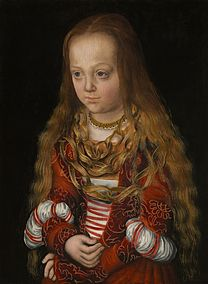 CRANACH, Lucas the Elder A Princess of Saxony 1517