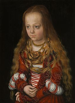 A Princess of Saxony by Lucas Cranach the Elder