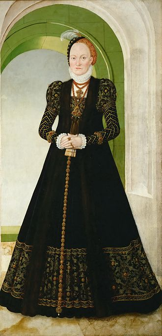 Anne of Denmark, Electress of Saxony - Portrait of Anne of Denmark, by Lucas Cranach the Younger