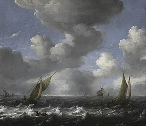 Ludolf Bakhuizen - Image: Ludolf Backhuysen Seascape and Fishing Boats Google Art Project