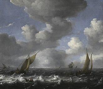 Ludolf Bakhuizen - Image: Ludolf Backhuysen Seascape and Fishing Boats Google Art Project
