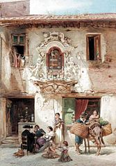 Scène de rue romaine