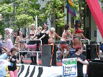 Dancers from the Lusty Lady in San Francisco, ...