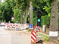 Luxembourg Traffic signal road works green.JPG