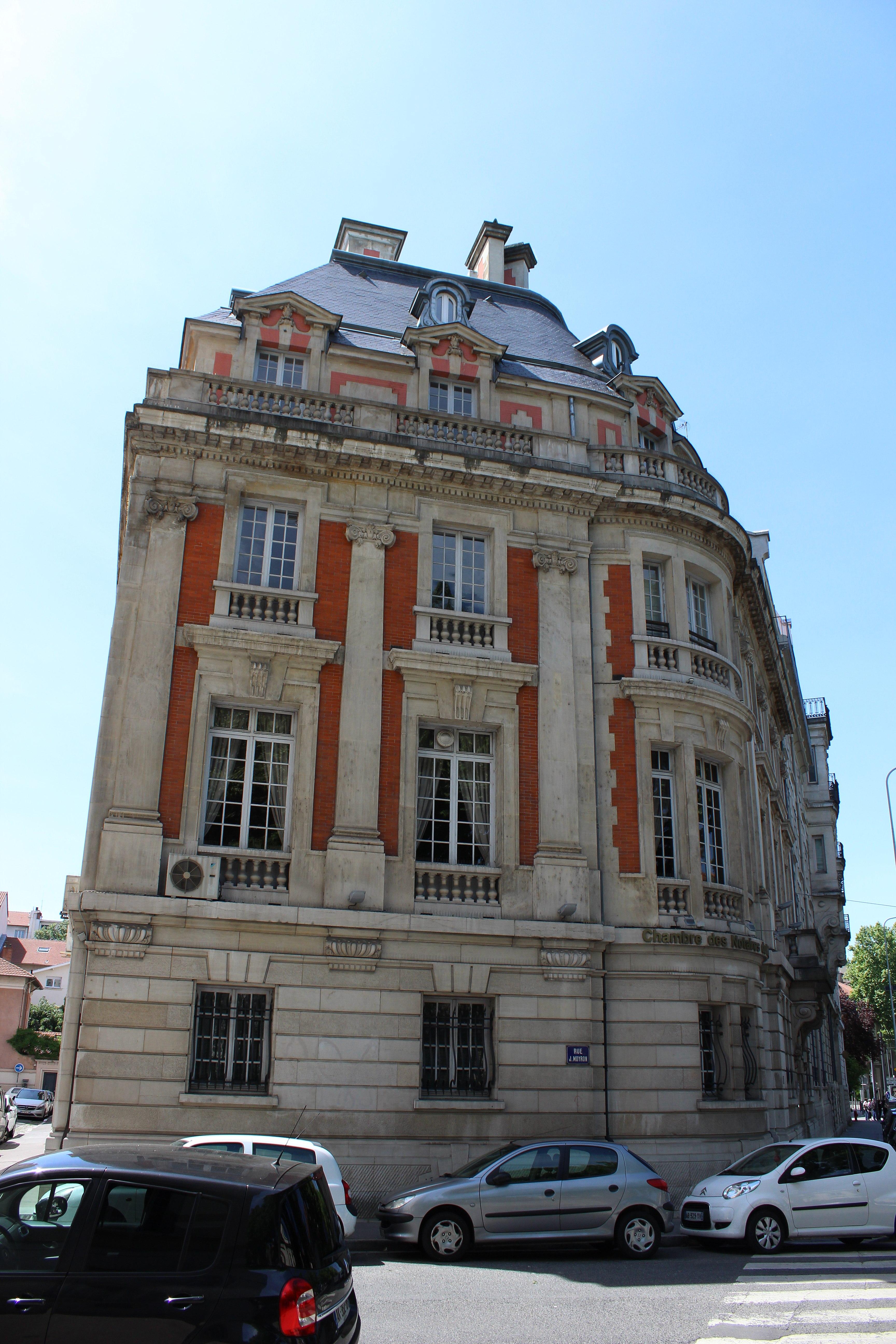 File Lyon 6e 58 Boulevard des Belges Chambre des notaires du